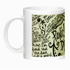 Panic! At The Disco Lyric Quotes Night Luminous Mugs