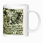 Panic! At The Disco Lyric Quotes Night Luminous Mugs Right