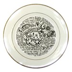 Panic! At The Disco Lyric Quotes Porcelain Plates Front