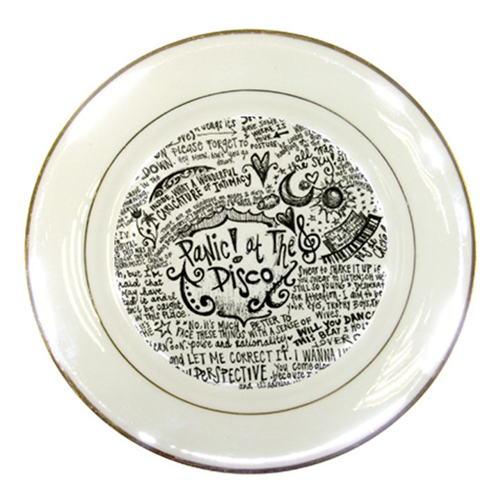 Panic! At The Disco Lyric Quotes Porcelain Plates