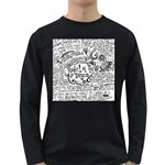 Panic! At The Disco Lyric Quotes Long Sleeve Dark T-Shirts Front