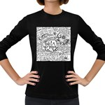 Panic! At The Disco Lyric Quotes Women s Long Sleeve Dark T-Shirts Front
