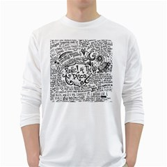 Panic! At The Disco Lyric Quotes White Long Sleeve T Shirts