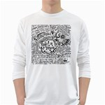 Panic! At The Disco Lyric Quotes White Long Sleeve T-Shirts Front
