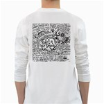 Panic! At The Disco Lyric Quotes White Long Sleeve T-Shirts Back