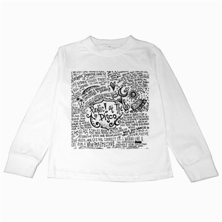 Panic! At The Disco Lyric Quotes Kids Long Sleeve T-Shirts