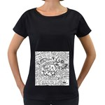 Panic! At The Disco Lyric Quotes Women s Loose-Fit T-Shirt (Black) Front