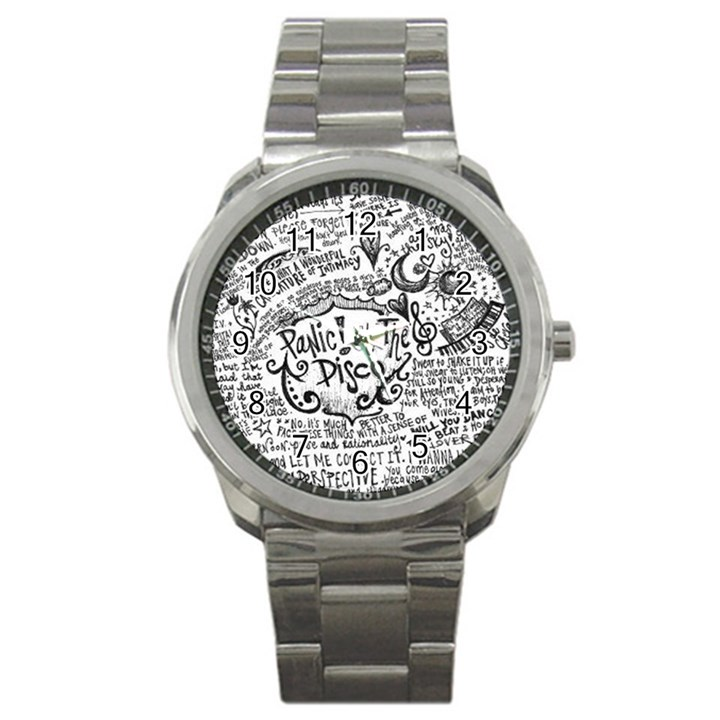Panic! At The Disco Lyric Quotes Sport Metal Watch