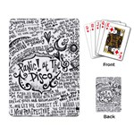 Panic! At The Disco Lyric Quotes Playing Card Back