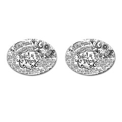 Panic! At The Disco Lyric Quotes Cufflinks (Oval)