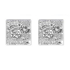 Panic! At The Disco Lyric Quotes Cufflinks (Square)