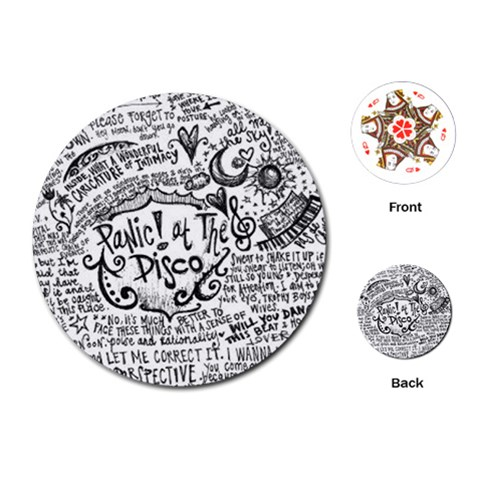 Panic! At The Disco Lyric Quotes Playing Cards (Round)
