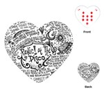Panic! At The Disco Lyric Quotes Playing Cards (Heart)  Front