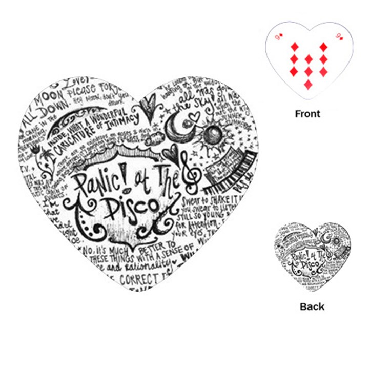 Panic! At The Disco Lyric Quotes Playing Cards (Heart)