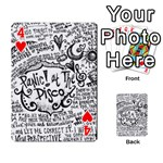 Panic! At The Disco Lyric Quotes Playing Cards 54 Designs  Front - Heart4