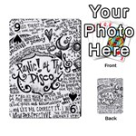 Panic! At The Disco Lyric Quotes Playing Cards 54 Designs  Front - Spade9