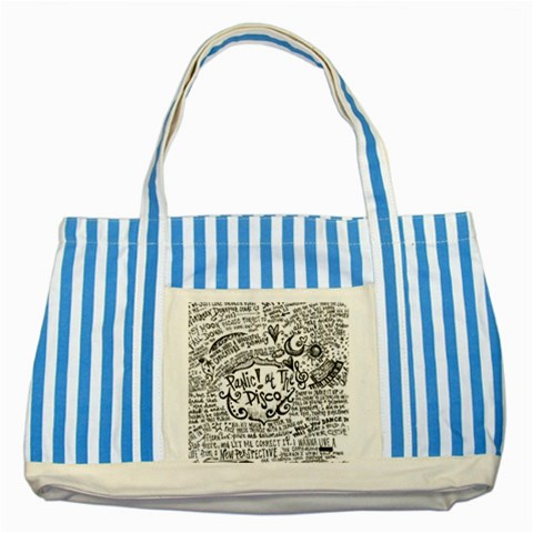 Panic! At The Disco Lyric Quotes Striped Blue Tote Bag