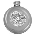Panic! At The Disco Lyric Quotes Round Hip Flask (5 oz) Front