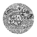 Panic! At The Disco Lyric Quotes Round Ornament (Two Sides)  Front