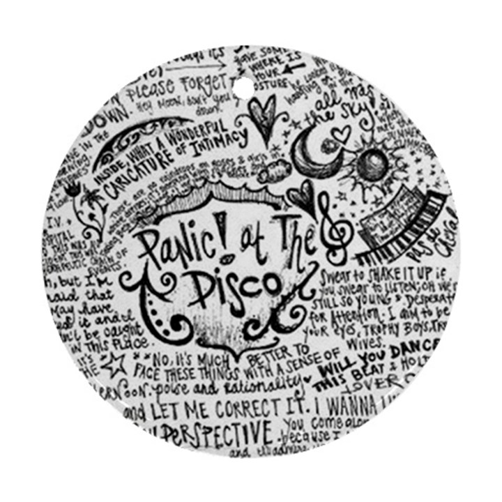 Panic! At The Disco Lyric Quotes Round Ornament (Two Sides)