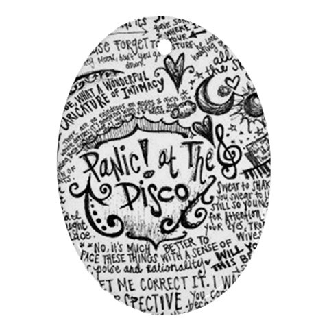 Panic! At The Disco Lyric Quotes Oval Ornament (Two Sides)
