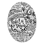 Panic! At The Disco Lyric Quotes Oval Ornament (Two Sides) Front