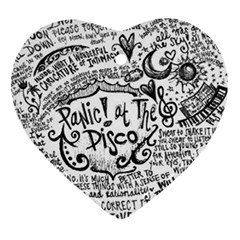 Panic! At The Disco Lyric Quotes Heart Ornament (2 Sides)