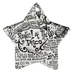 Panic! At The Disco Lyric Quotes Star Ornament (Two Sides)  Front