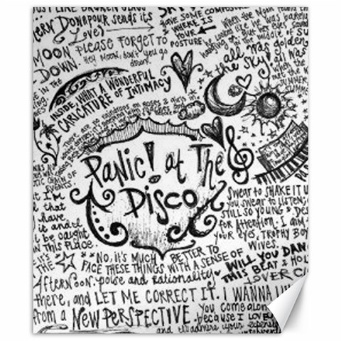 Panic! At The Disco Lyric Quotes Canvas 8  x 10