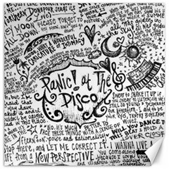 Panic! At The Disco Lyric Quotes Canvas 12  x 12