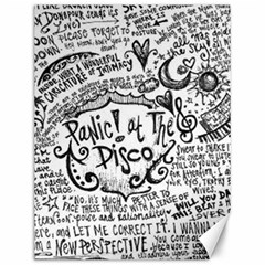 Panic! At The Disco Lyric Quotes Canvas 12  x 16