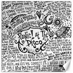 Panic! At The Disco Lyric Quotes Canvas 16  x 16   16 x16 Canvas - 1