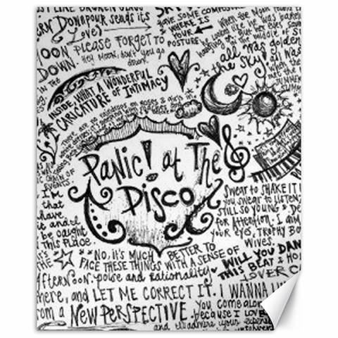 Panic! At The Disco Lyric Quotes Canvas 16  x 20