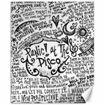 Panic! At The Disco Lyric Quotes Canvas 16  x 20   20 x16 Canvas - 1