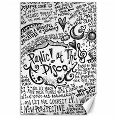 Panic! At The Disco Lyric Quotes Canvas 24  x 36