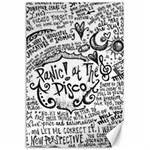 Panic! At The Disco Lyric Quotes Canvas 24  x 36  36 x24 Canvas - 1