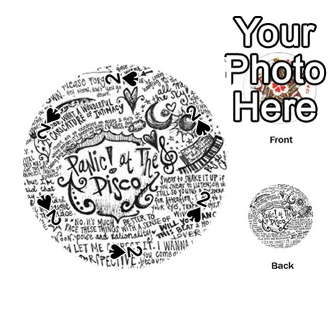 Panic! At The Disco Lyric Quotes Playing Cards 54 (Round)