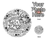 Panic! At The Disco Lyric Quotes Playing Cards 54 (Round)  Front - SpadeK