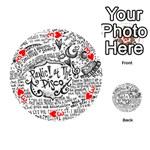 Panic! At The Disco Lyric Quotes Playing Cards 54 (Round)  Front - Heart3