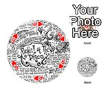 Panic! At The Disco Lyric Quotes Playing Cards 54 (Round)  Front - Heart6