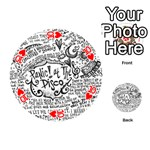 Panic! At The Disco Lyric Quotes Playing Cards 54 (Round)  Front - Heart10