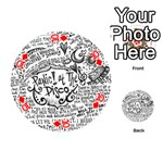 Panic! At The Disco Lyric Quotes Playing Cards 54 (Round)  Front - Diamond10