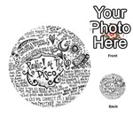 Panic! At The Disco Lyric Quotes Playing Cards 54 (Round)  Back