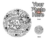 Panic! At The Disco Lyric Quotes Playing Cards 54 (Round)  Front - SpadeJ