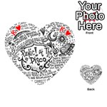 Panic! At The Disco Lyric Quotes Playing Cards 54 (Heart)  Front - HeartK