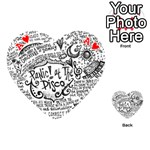 Panic! At The Disco Lyric Quotes Playing Cards 54 (Heart)  Front - HeartA