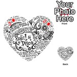 Panic! At The Disco Lyric Quotes Playing Cards 54 (Heart)  Front - DiamondJ