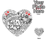 Panic! At The Disco Lyric Quotes Playing Cards 54 (Heart)  Front - DiamondQ
