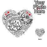 Panic! At The Disco Lyric Quotes Playing Cards 54 (Heart)  Front - DiamondK
