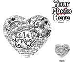 Panic! At The Disco Lyric Quotes Playing Cards 54 (Heart)  Front - Club8